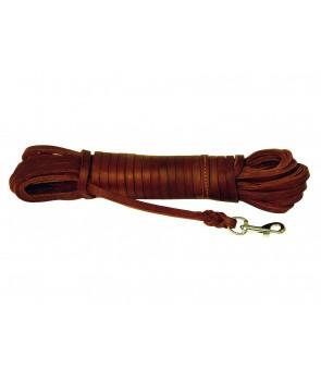 sportline læder 10 m 10mm flad læder