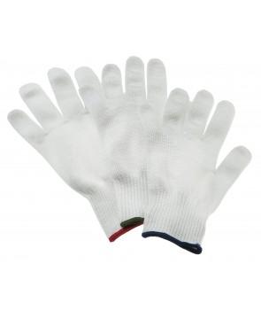 skærehandske  med tråde indvævet pr stk . kan bruge på både højre og venstre hånd