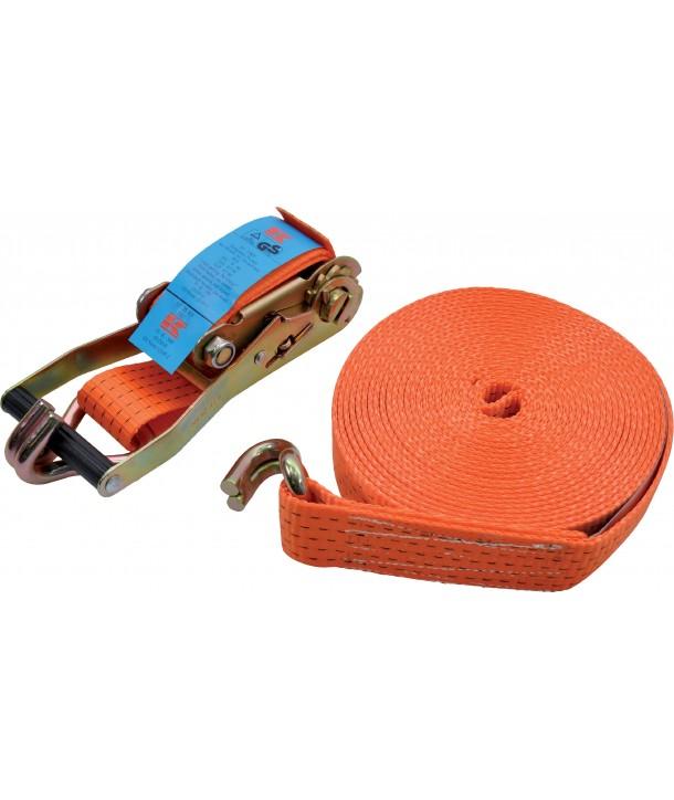 båndstrammer med skraller b25mm l 0,3+4,7m