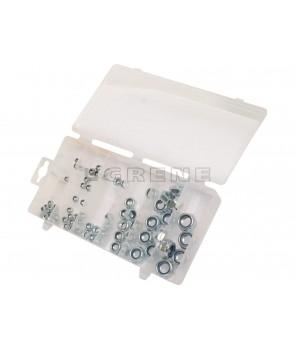 låse møtrik sortiment gopart 75 stk ass 4-5-6-8-10-12 mm